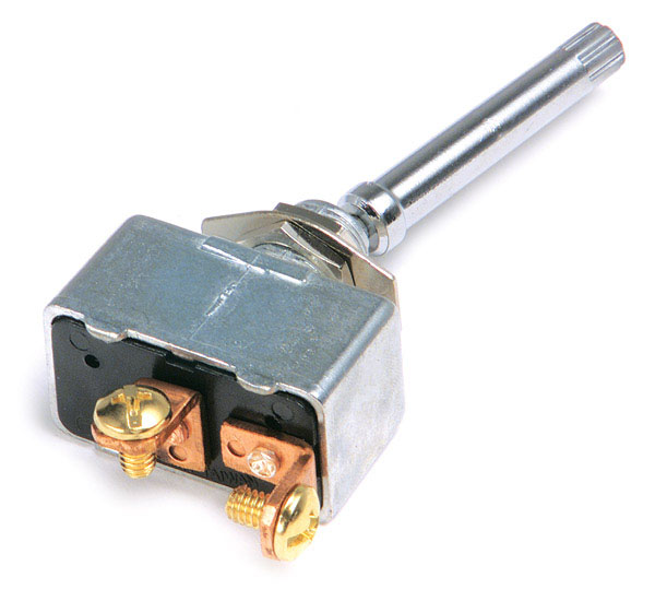 82-2121 – Toggle Switch, Extra Heavy Duty, On/Off, 35A, 2 Screw, 1 1/2″ x 15/32″
