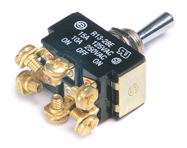 82-2122 – Toggle Switch, Heavy Duty, On/Off/On, 15A, 6 Screw