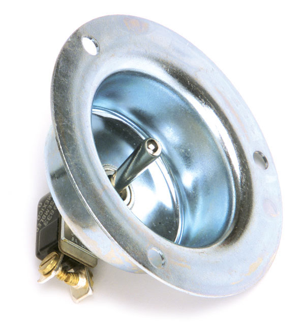 Toggle Switch With Recessed Plate