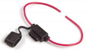 82-2207 – ATO®/ATC® Fuse Holder, 16 Gauge, 20A, w/ Protective Cap, Red