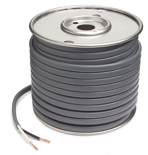 82-5509 - Cable de freno de PVC revestido, calibre 10, 2 conductores, cable de 50' de largo