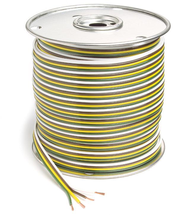 82-5524 - Cable adherido en paralelo, cable primario, 25′ de largo, 4 conductores, calibre 16
