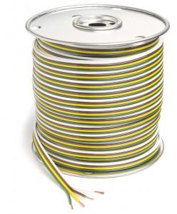 82-5527 - Cable adherido en paralelo, cable primario, 25′ de largo, 4 conductores, calibre 18