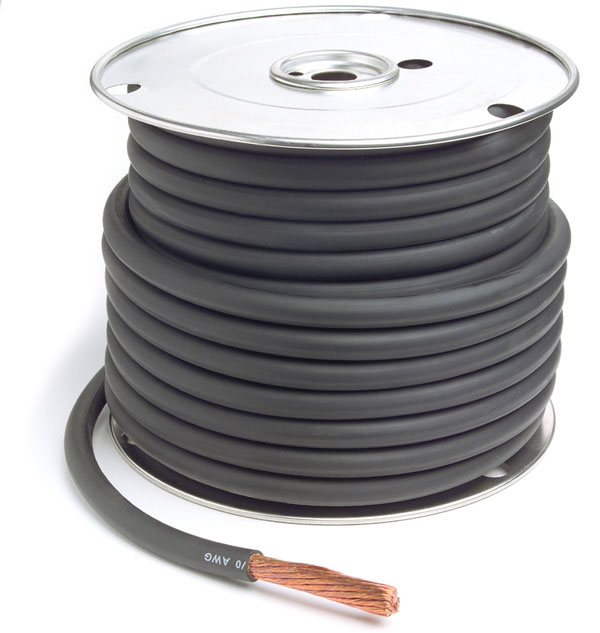 Black 50' Battery 2/0 Gauge Cable