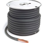 Black 25' Battery 1/0 Gauge Cable