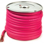 Red 100' Battery 2/0 Gauge Cable