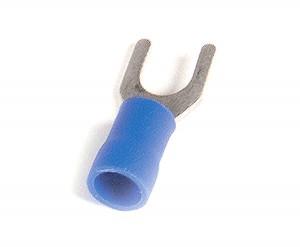 83-2334 - Terminales de horquilla de vinilo, calibre 16 - 14, tamaño de la varilla roscada: N.°8 - 10, 100 u.