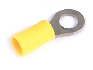 83-2505 - Terminales de anillo de vinilo, 12 - Calibre 10, tamaño de la varilla roscada: 1/4″, 100 u.