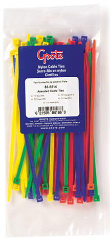 83-6514 – Cable Tie Assortment, 50 lb Tensile Strength