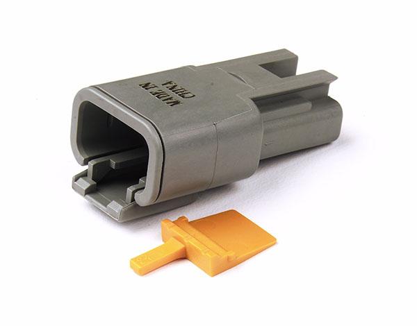 84-2487 – Deutsch – DTM Series Housing and Wedgelocks, 3-Way Male Plug