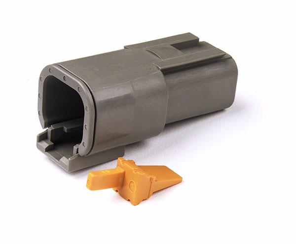 84-2489 – Deutsch – DTM Series Housing and Wedgelocks, 4-Way Male Plug
