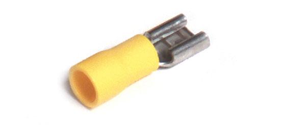 83-2587 – Vinyl Quick Disconnects, 12 – 10 Gauge, .250″ Size, Female, 100pk