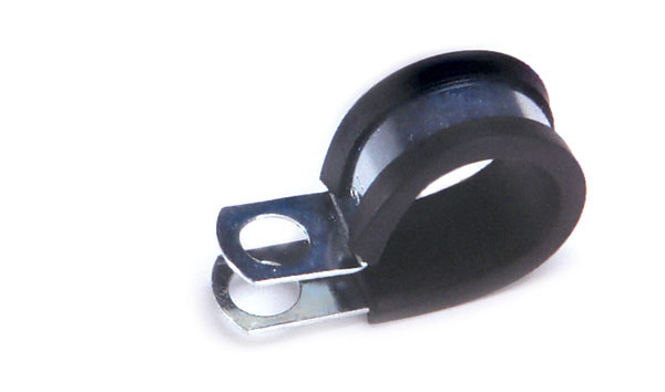 Rubber insulated steel clamp quot diameter pack