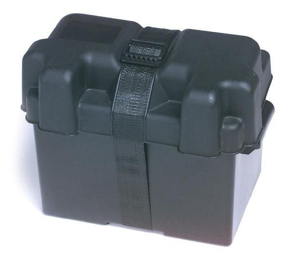 84-9424 – Automotive, Light Truck, Marine & RV Battery Box, 24 Black