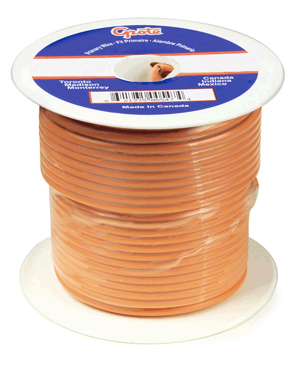 87-7012 – General Purpose Thermo Plastic Wire, Primary Wire Length 100′, 14 Gauge