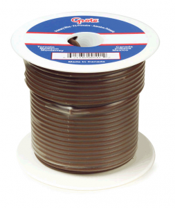 88-9001 - Cable termoplástico para uso general, cable primario de 1000' de largo, calibre 18