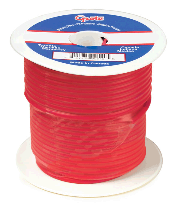 89-6000 – General Purpose Thermo Plastic Wire, Primary Wire Length 25′, 12 Gauge