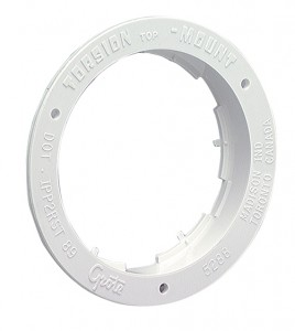 92510 – Theft-Resistant Flange For 4″ Round Lights, White