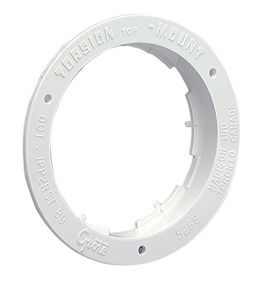 Grote Industries - 92510 – Theft-Resistant Flange For 4″ Round Lights, White