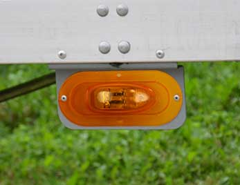 Grote Clearance Marker Light on Heavy Duty Trailer