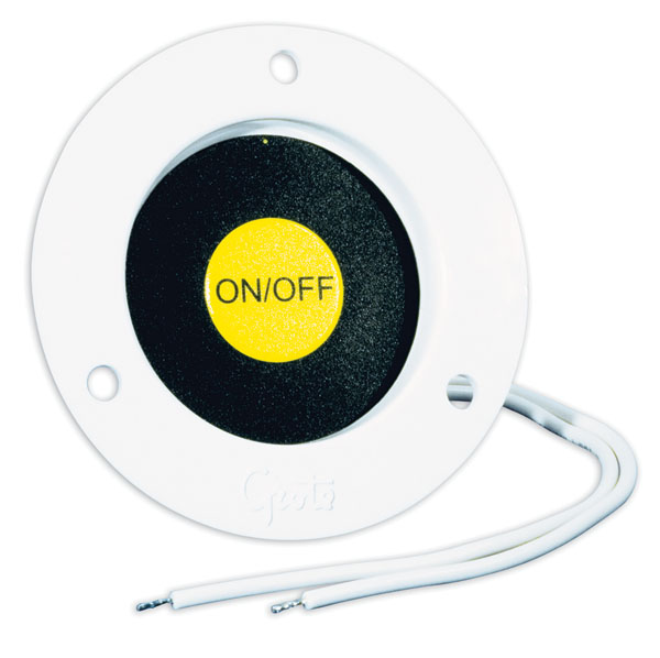44380 – Recessed Momentary Ground Switch, White