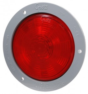 54472 – SuperNova® 4″ NexGen™ LED Stop Tail Turn Light, Gray Flange, Male Pin, Red