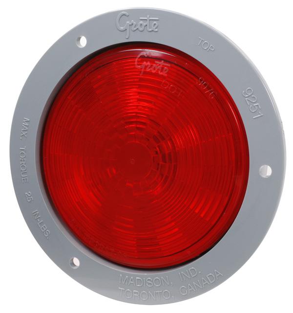 54472 – SuperNova® 4″ NexGen™ LED Stop Tail Turn Light, Gray Flange, Male Pin, Red