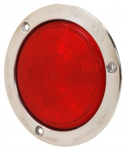 54492 – SuperNova® 4″ NexGen™ LED Stop Tail Turn Light, Stainless Steel Flange, Male Pin, Red