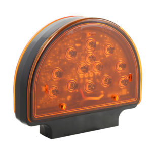 56150 – Amber LED Warning Light for Agriculture & Off-Highway Applications, Pedestal, Black/Yellow