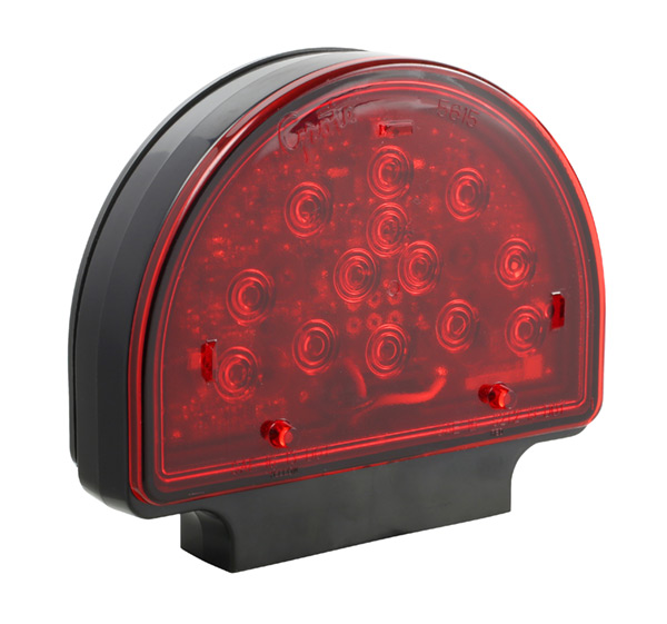 Grote Industries - 56170-5 – LED Stop Tail Turn Light for Agricultural & Off-Highway Applications, Pedestal, Black/Red