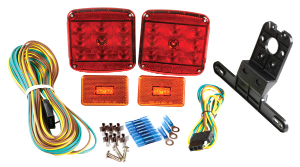 Grote Industries - 65870-5 – LED Submersible Trailer Lighting Kit, with Clearance Marker Lights