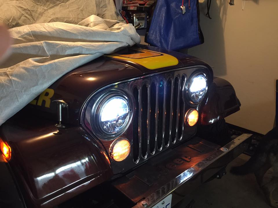 LED Headlight on CJ Scrambler
