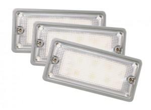 61861-3 – LED WhiteLight™ Recessed Dome Mount Lights, 6 Diodes, Dome Flush-Mount, 300 Lumens, 9-30V, Gray, Bulk Pack