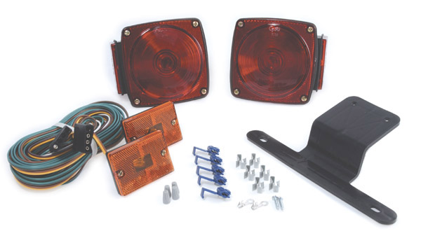 Grote Industries - 65230-5 – Submersible Trailer Lighting Kit, w/ Clearance Marker, Red/Yellow, Retail Pack