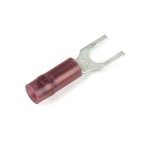 83-2217 - Terminales de horquilla de nylon, calibre 22 - 16, tamaño de la varilla roscada: N.°4 - 6, 50 u.