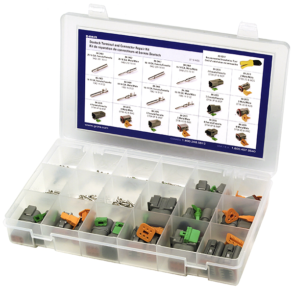 Grote Industries - 83-6549 – Deutsch Terminal and Connector Assortment Kit – DT Series