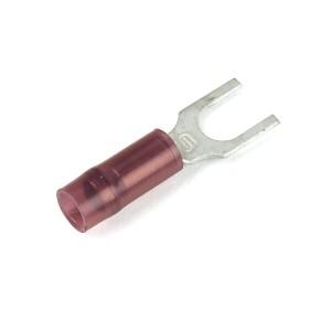 84-2218 - Terminales de horquilla de nylon, calibre 22 - 16, tamaño de la varilla roscada: N.°8 - 10, 15 u.