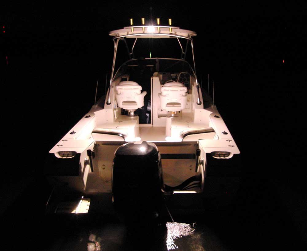 Boot mit LED-Leuchten