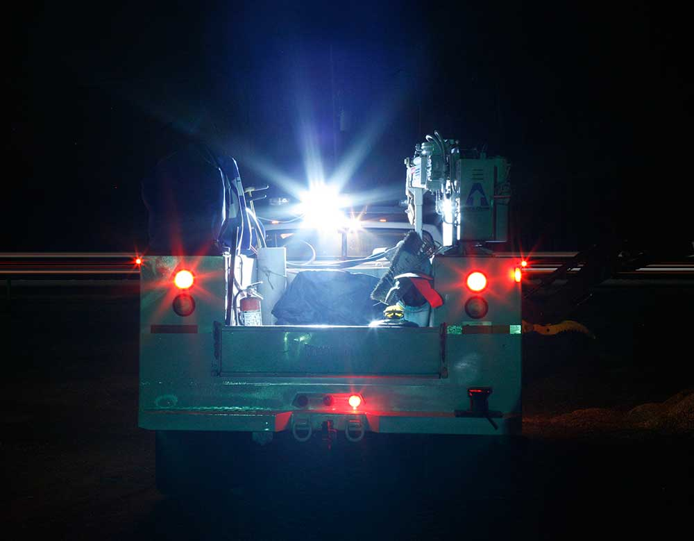 Grote LED Lights on Utility Truck