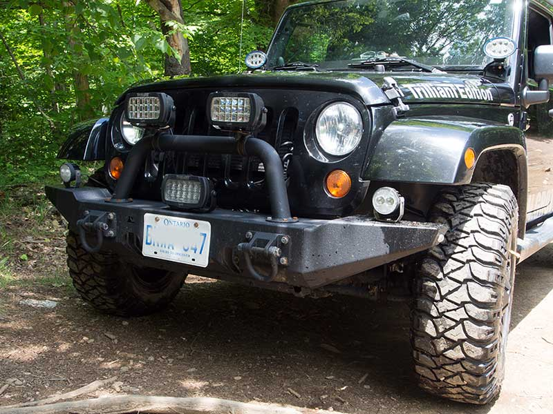 Grote Trilliant lights on front of Jeep