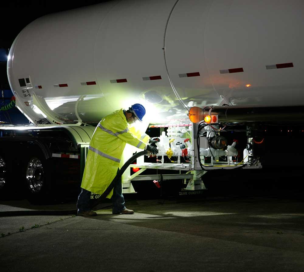 Grote LED Lights on Tanker Truck