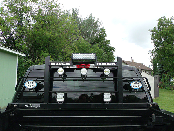 Grote truck with LED light bar