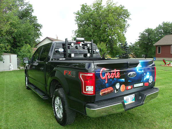 Grote truck with LED white lights
