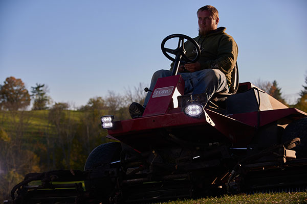 Grote Trilliant LED Lights on Lawn Mower