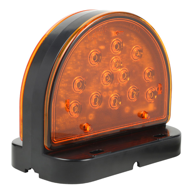 Grote Industries - 56160-5 – LED Amber Warning Light for Agricultural & Off-Highway Applications, Surface Mount, Black/Yellow