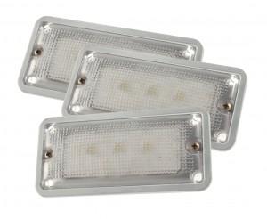 61871-3 – LED WhiteLight™Courtesy Flush Mount Interior Lights, 3 Diodes, Courtesy Flush-Mount, 150 Lumens, 9-30V, Gray, Bulk Pack