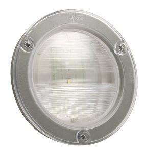 62781 – SuperNova® NexGen™ 4″ Dual-System LED Backup Light, w/ Gasketed Flanged, Male Pin, Clear