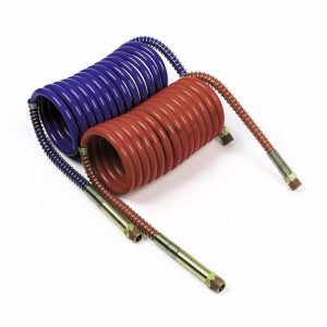 81-0020-C – Low Temperature Coiled Air, Working Length 20′, Leads 12″, 2pk, Red & Blue