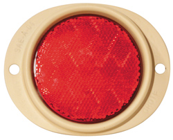 82562 – Steel Two-Hole Mounting Reflector, Red