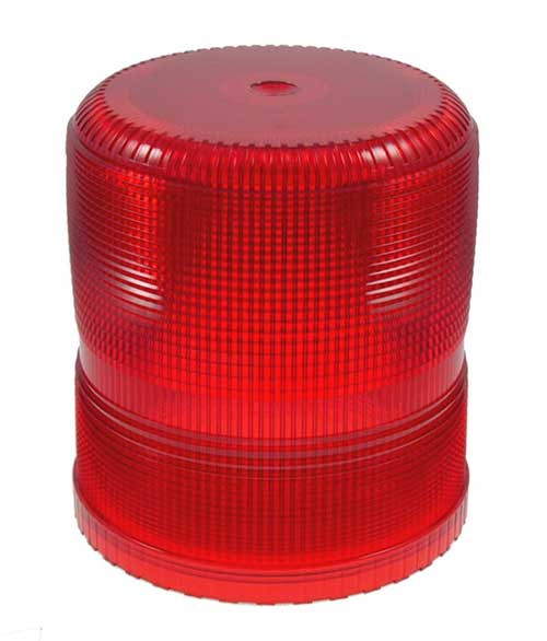 Grote Industries - 93002 – Warning & Hazard Replacement Lens, Medium & High Profile Strobe, Red